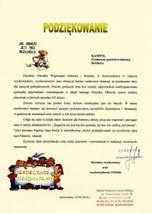 Pomoc dla Ośrodka Wspierania Dziecka i Rodziny w Inowrocławiu